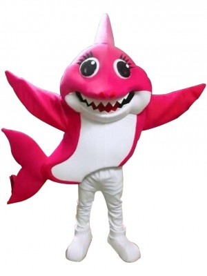 PinkFong Rose Mommy Baby Shark Mascot Costumes Sea Ocean Cartoon