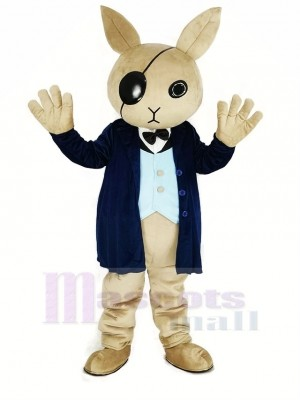 Cool Rabbit Butler Mascot Costume