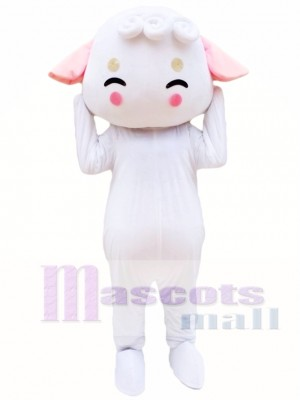 White Sheep Mascot Costume