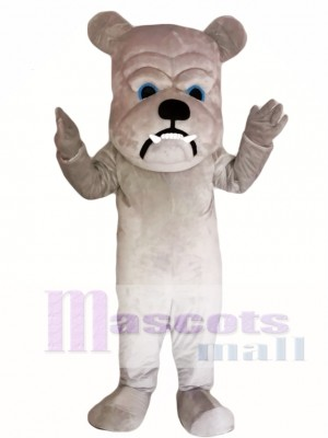 Grey Bulldog Mascot Costume