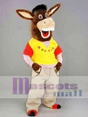 Martin the Donkey Mascot Costume