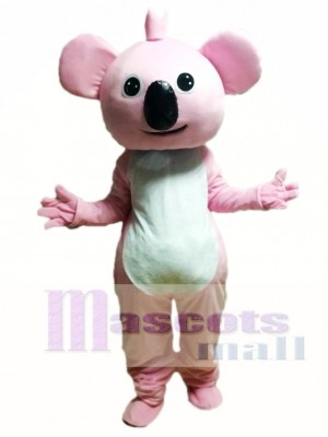 Pink Koala Cartoon Mascot Costume