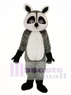 Flat Face Small Raccoon Mascot Adult Costume