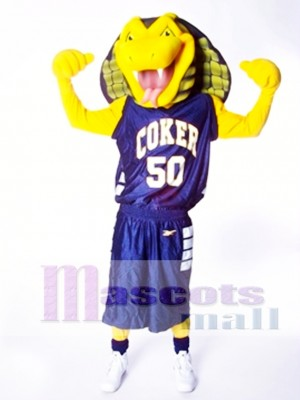 Sports Yellow Cobra Snake Mascot Costume