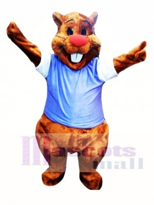 Cute Adult Beaver Mascot Costume