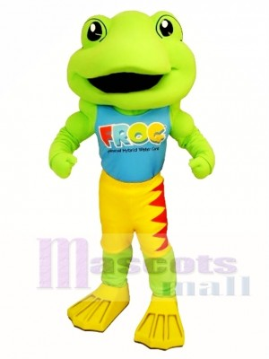 Power Frog Mascot Costume