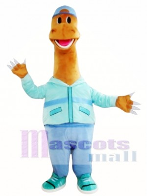 Happy Dinosaur Mascot Costume