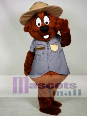 Police Beaver Mascot Costume