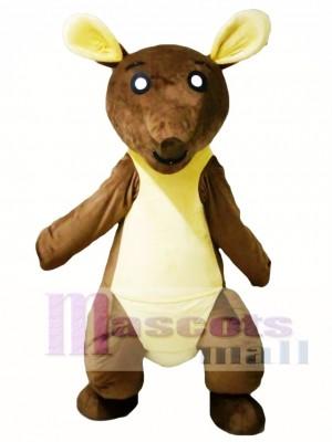 Brown and Yellow Kangaroo Mascot Costume