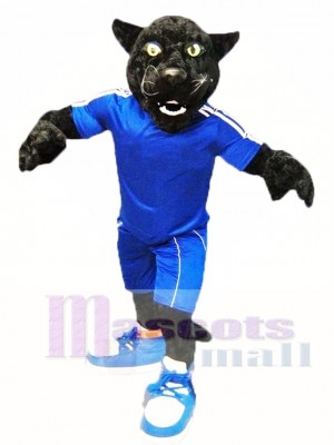 Black Sport Panther Mascot Costume