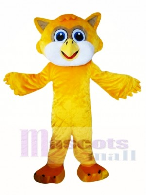 Yellow Owl Mascot Costume
