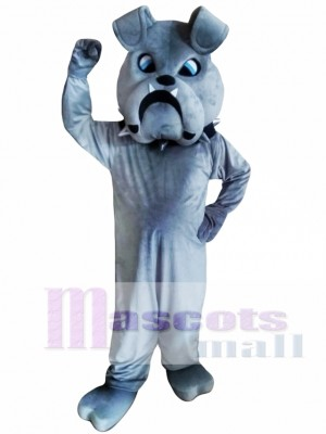 Grey Bulldog Mascot Costumes