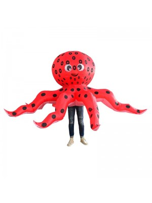 Red Octopus Squid Inflatable Costume Halloween Christmas Costume for Adult