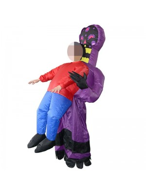 Purple Alien Monster Ghost Carry me Inflatable Costume Halloween Christmas Costume for Adult