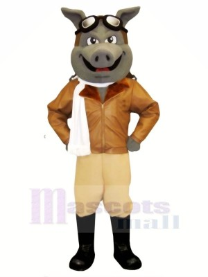 Airhog with White Scarf Mascot Costumes Animal
