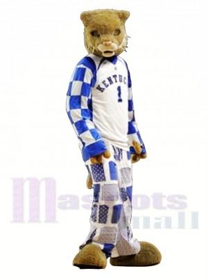 College Sport Wildcat Mascot Costume Free Shipping