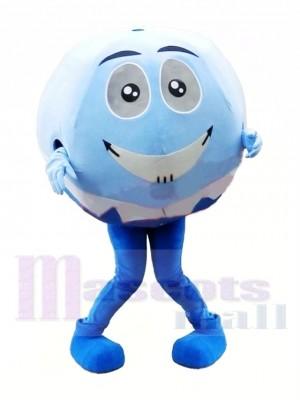 Blue & White Ball Mascot Costume