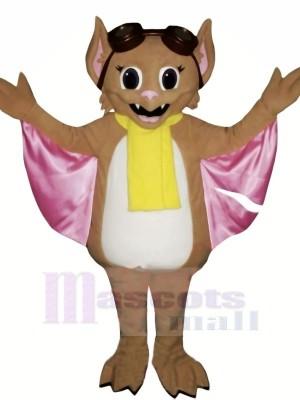 Bat with Yellow scarf Mascot Costumes Animal