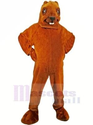 Brown Beaver Mascot Adult Costume
