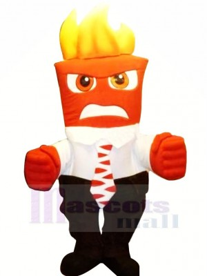 Inside Out Anger Mascot Costumes Cartoon
