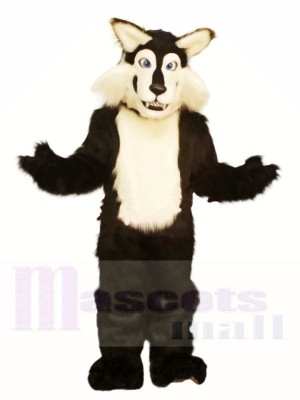 Black & White Wolf Mascot Costume Free Shipping