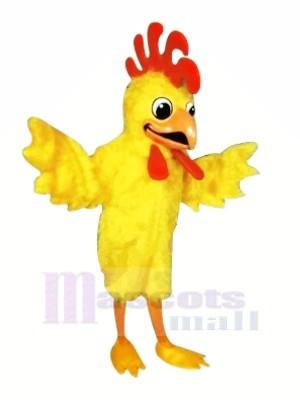 Beautiful Yellow Furry Chicken Mascot Costumes Cartoon