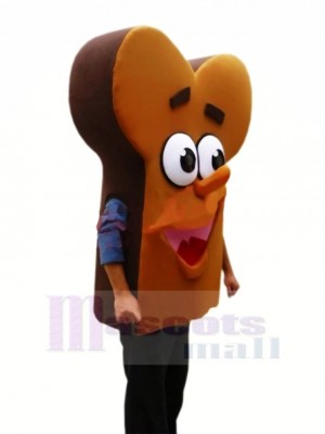 Yummy Bread Mascot Costume Cartoon