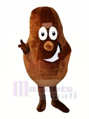Cocoa Bean Mascot Costume Cartoon