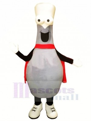 Bowling Ball With Cape Mascot Costume Cartoon
