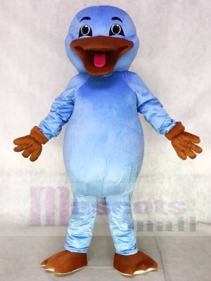 Cute Light Blue Platypus Mascot Costumes Animal