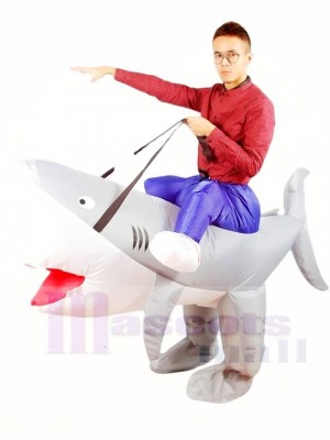 Ride on Shark Inflatable Halloween Xmas Costumes for Adults