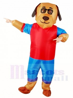Cartoon Lucky Dog Inflatable Halloween Xmas Costumes for Adults