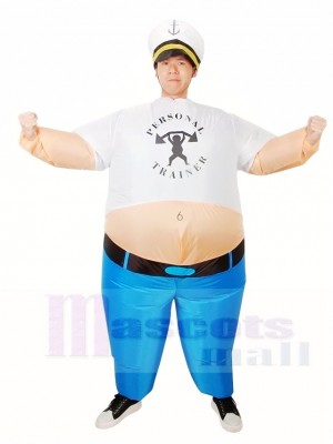 Personal Trainer Fat People Inflatable Halloween Xmas Costumes for Adults