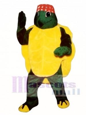 Karate Turtle with Headband Mascot Costume