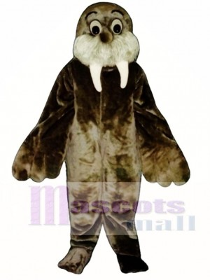 Cute Wally Walrus Mascot Costume