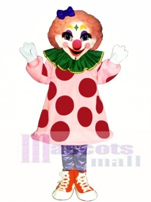 Girl Clown Mascot Costume