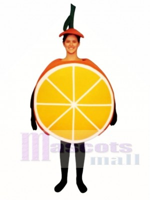 Sliced Orange Mascot Costume