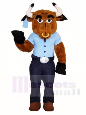 Brown Bull Mascot Costumes Farm Animal