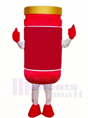 Red Tomato Sauce Ketchup Pepper Jelly Jar Mascot Costumes