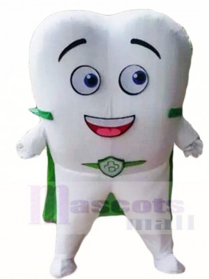Tooth with Green Cloak for Dentist Clinic Mascot Costumes
