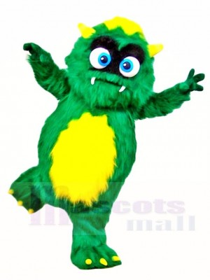 Fluffy Green Monster Mascot Costumes