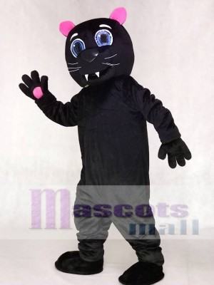 Red Ears and Paws Black Sir Purr of the Carolina Panthers Mascot Costumes