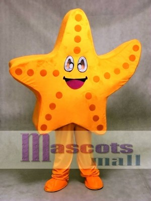 Cute Orange Starfish Mascot Costume Ocean