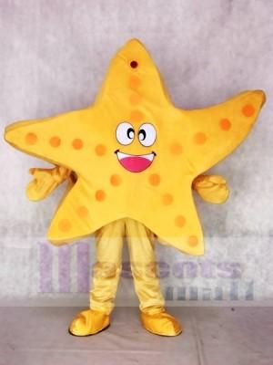 Yellow Starfish Mascot Costumes Sea Ocean