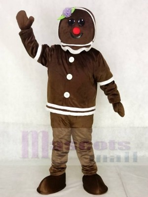 Cute Gingerbread Girl Mascot Costumes Xmas Christmas