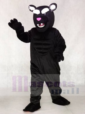 Black Muscle Panther Mascot Costume Animal