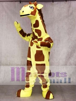 Cute Yellow Giraffe Mascot Costume Animal