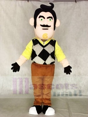 Mr. Peterson The Neighbor from Hello Neighbor Man Mascot Costume