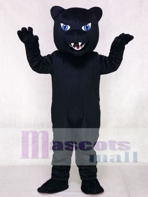 Fierce New Blue Eyes Panther Mascot Costume Animal