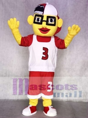 Basketball Boy Mascot Costume with Cap